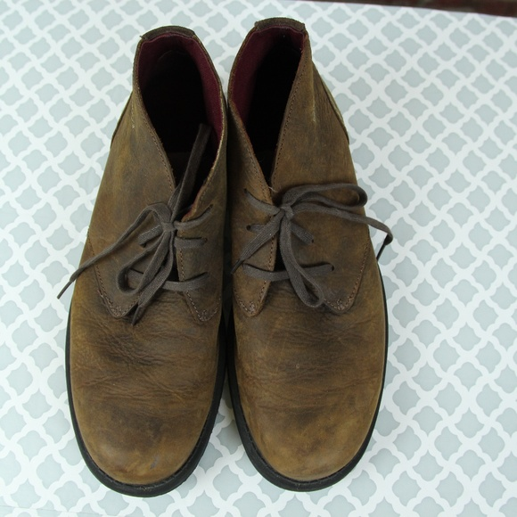 67a9aec85f5 Clarks Other - Clarks Chukka Leather Lace Up Ankle Boot